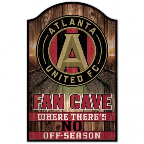 Atlanta United FC Sign 11x17 Wood Fan Cave Design - Special Order