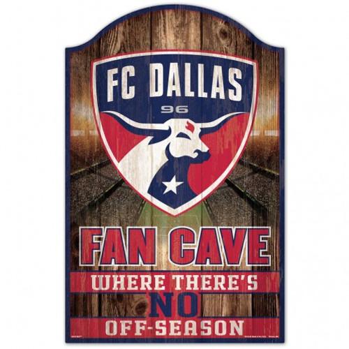 FC Dallas Sign 11x17 Wood Fan Cave Design - Special Order