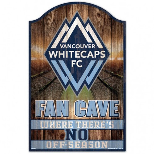 Vancounver Whitecaps Sign 11x17 Wood Fan Cave Design - Special Order