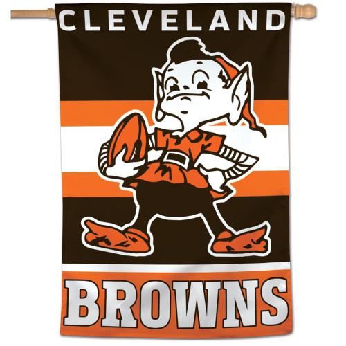 Cleveland Browns Banner 28x40 Vertical Classic Logo Retro - Special Order