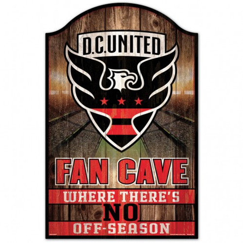 DC United Sign 11x17 Wood Fan Cave Design - Special Order