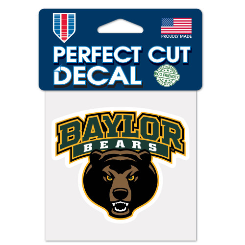 Baylor Bears Decal 4x4 Perfect Cut Color