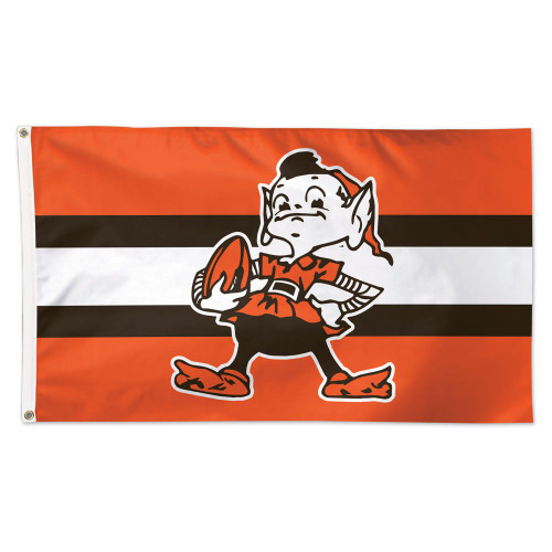 Cleveland Browns Flag 3x5 Deluxe Style Classic Logo Retro