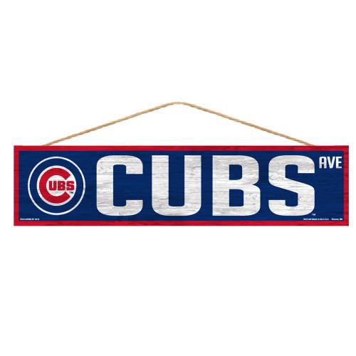 Chicago Cubs Sign 4x17 Wood Avenue Design