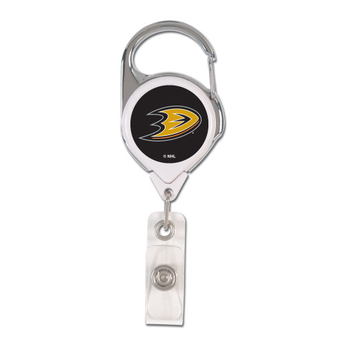 Anaheim Ducks Badge Holder Premium Retractable - Special Order
