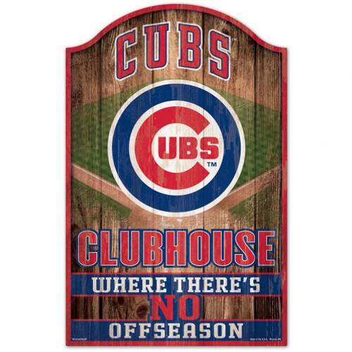 Chicago Cubs Sign 11x17 Wood Fan Cave Design