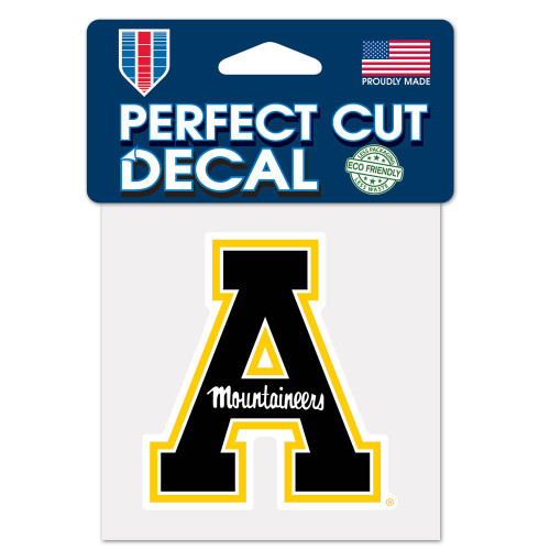 Appalachian State Mountaineers Decal 4x4 Perfect Cut Color
