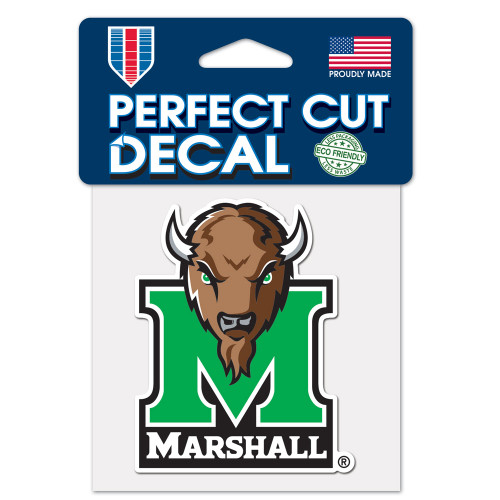 Marshall Thundering Herd Decal 4x4 Perfect Cut Color