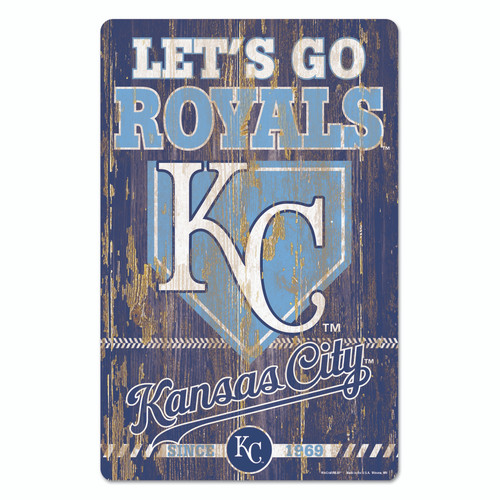 Kansas City Royals Sign 11x17 Wood Slogan Design