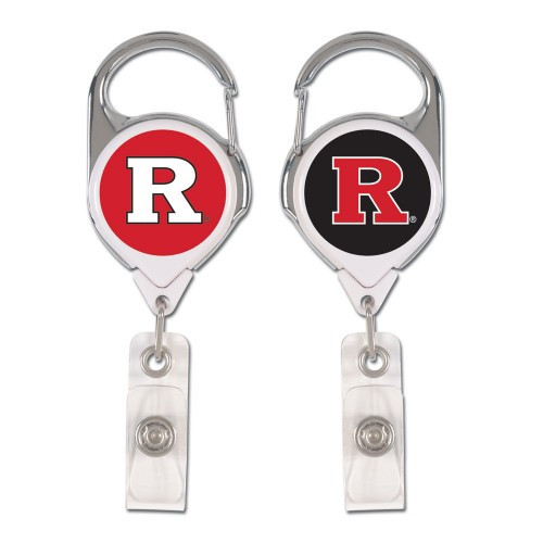 Rutgers Scarlet Knights Badge Holder Premium Retractable - Special Order
