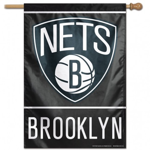 Brooklyn Nets Banner 28x40 Vertical Special Order