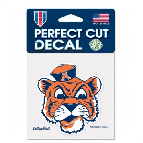 Auburn Tigers Decal 4x4 Perfect Cut Color College Vault Design
