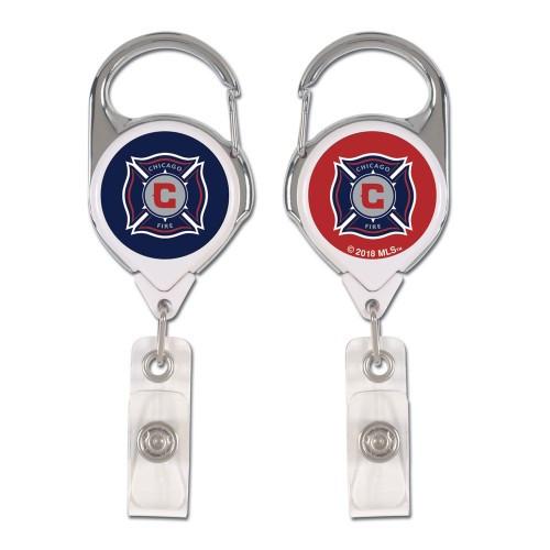 Chicago Fire Badge Holder Premium Retractable - Special Order