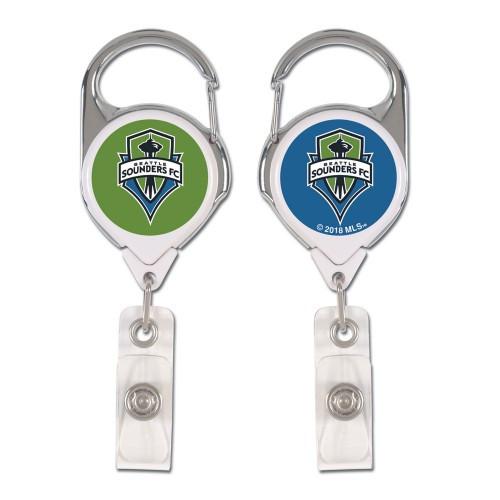Seattle Sounders FC Badge Holder Premium Retractable - Special Order