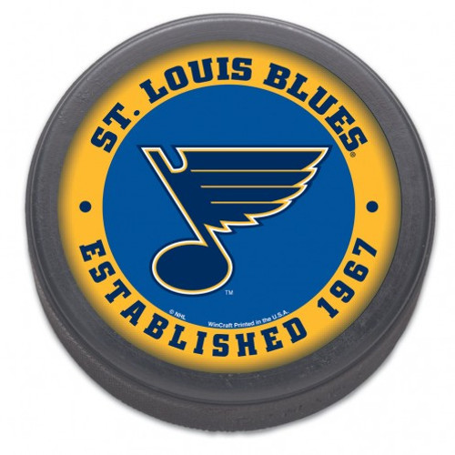 St. Louis Blues Hockey Puck Bulk Est 1967 Design - Special Order