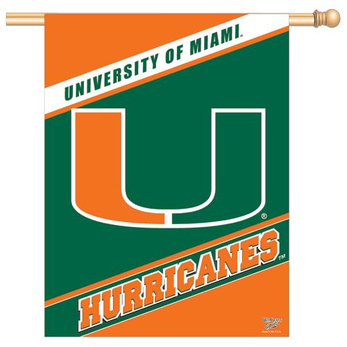 Miami Hurricanes Banner 28x40 Vertical