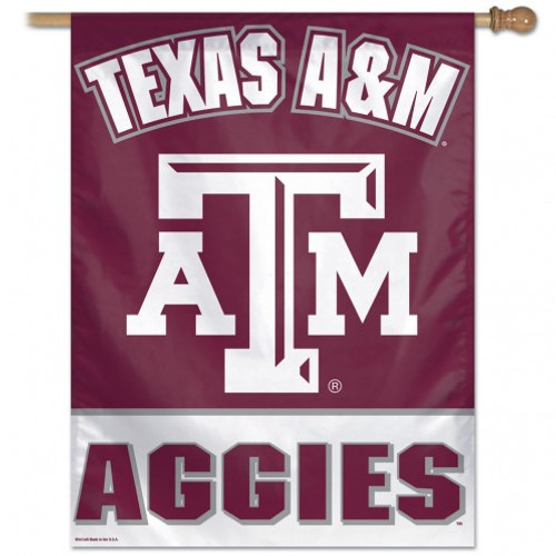 Texas A&M Aggies Banner 28x40 Vertical - Special Order