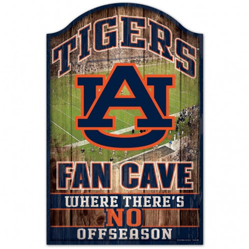 Auburn Tigers Sign 11x17 Wood Fan Cave Design - Special Order