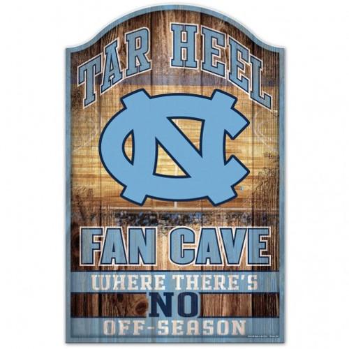 North Carolina Tar Heels Sign 11x17 Wood Fan Cave Design - Special Order