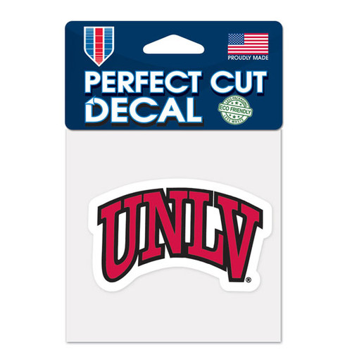 UNLV Runnin' Rebels Decal 4x4 Perfect Cut Color
