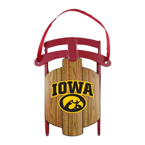 Iowa Hawkeyes Ornament Metal Sled - Special Order