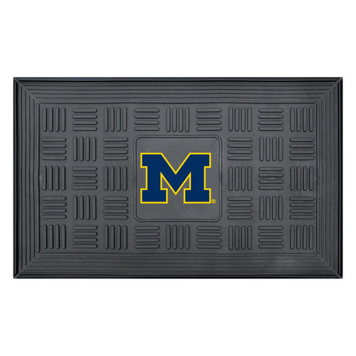 Michigan Wolverines Door Mat 19x30 Medallion - Special Order