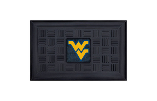 West Virginia Mountaineers Door Mat 19x30 Medallion - Special Order
