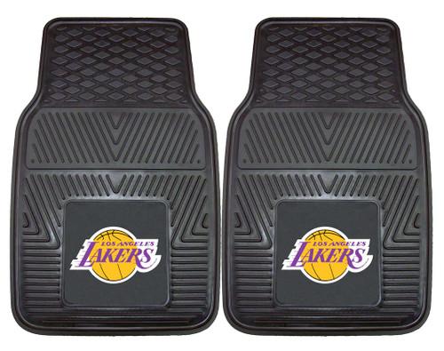 Los Angeles Lakers Car Mats Heavy Duty 2 Piece Vinyl