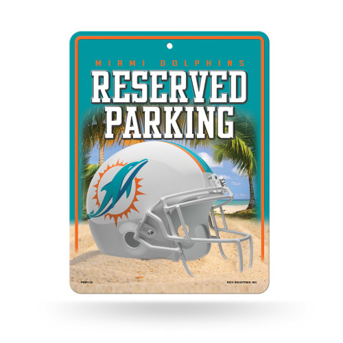 Miami Dolphins Sign Metal Parking - Special Order