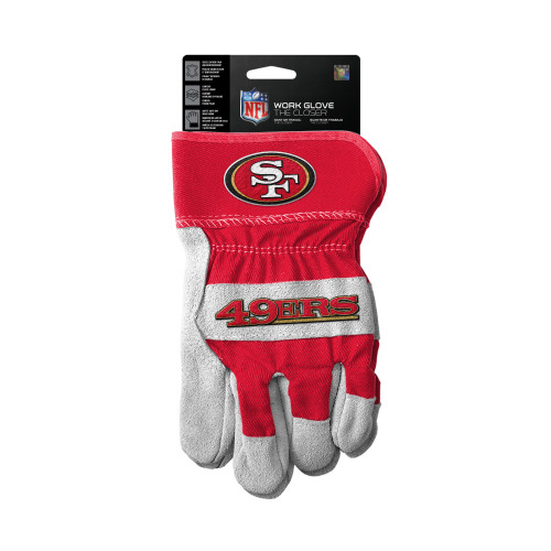San Francisco 49'ers Gloves Work Style The Closer Design