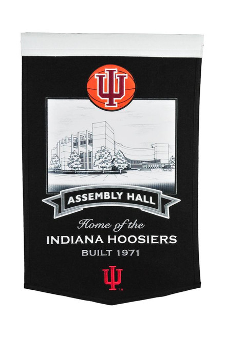 Indiana Hoosiers Banner 15x24 Wool Stadium Assembly Hall