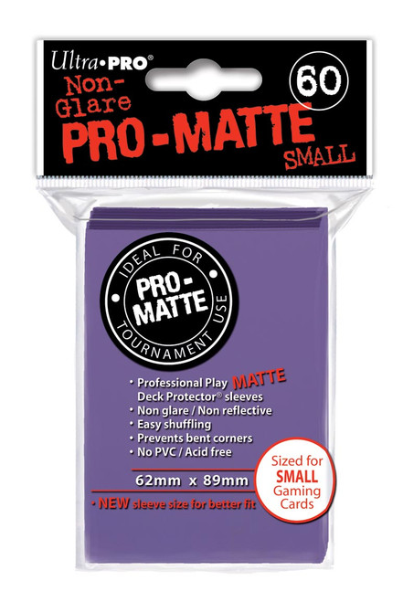 Deck Protectors - Pro Matte - Small Size - Purple (One Pack of 60)