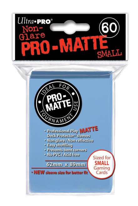 Deck Protectors - Pro Matte - Small Size - Light Blue (One Pack of 60)