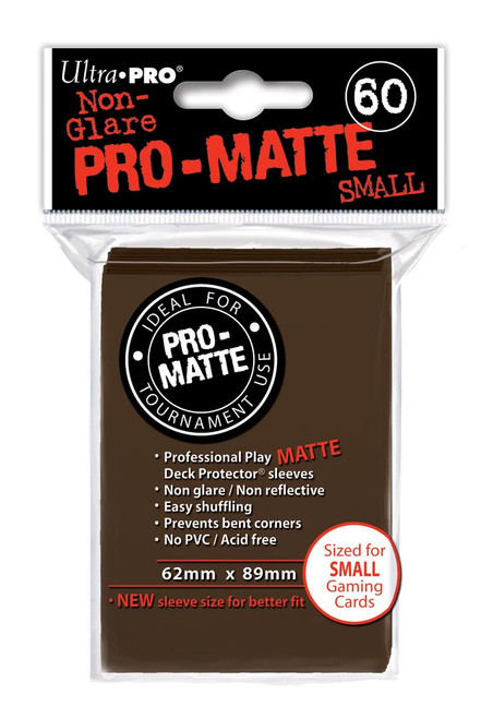 Deck Protectors - Pro Matte - Small Size - Brown (One Pack of 60)