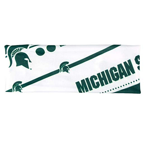 Michigan State Spartans Headband Stretch Patterned - Special Order