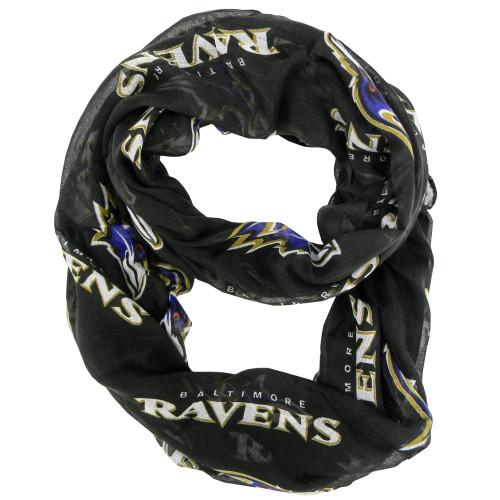 Baltimore Ravens Scarf Infinity Style Alternate
