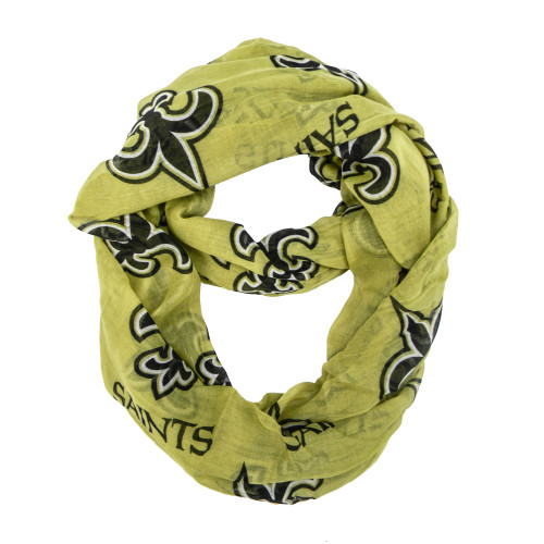 New Orleans Saints Scarf Infinity Style Alternate