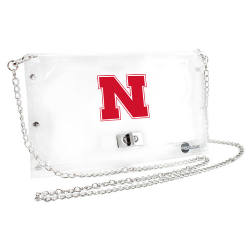Nebraska Cornhuskers Purse Clear Envelope Style