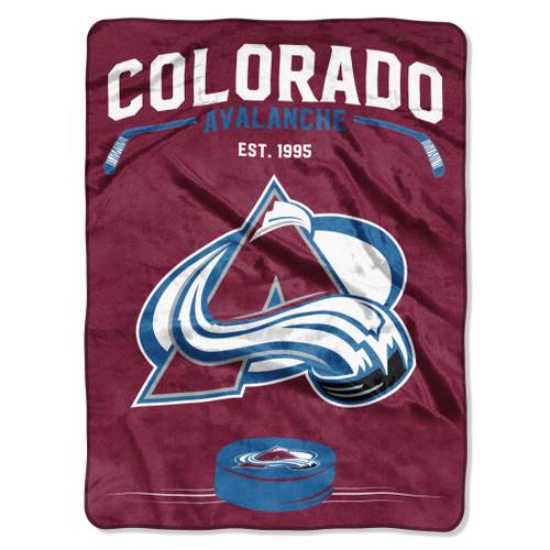 Colorado Avalanche Blanket 60x80 Raschel Inspired Design - Special Order
