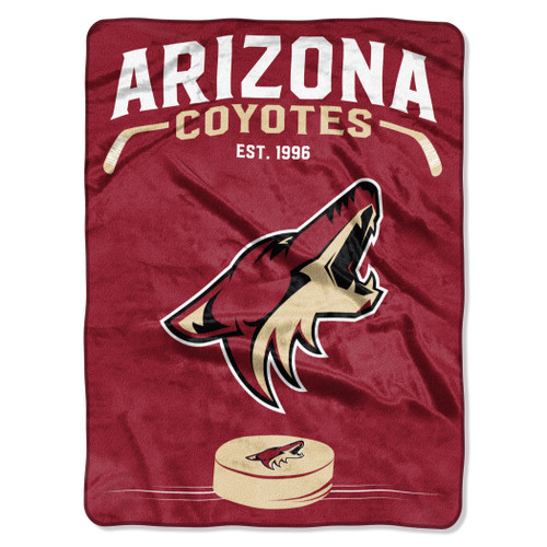 Arizona Coyotes Blanket 60x80 Raschel Inspired Design - Special Order