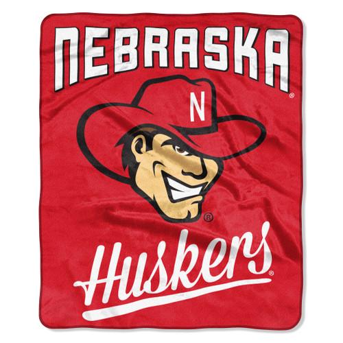 Nebraska Cornhuskers Blanket 50x60 Raschel Alumni Design