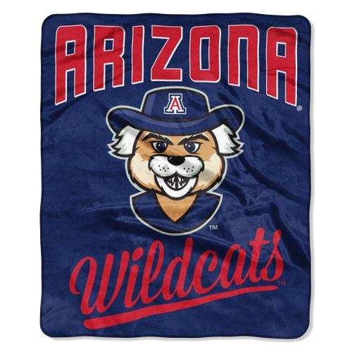 Arizona Wildcats Blanket 50x60 Raschel Alumni Design - Special Order