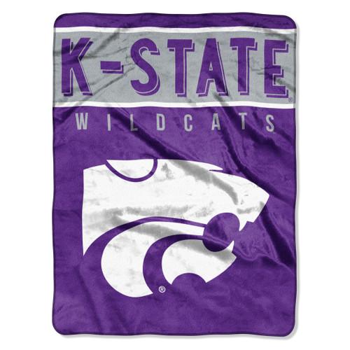 Kansas State Wildcats Blanket 60x80 Raschel Basic Design