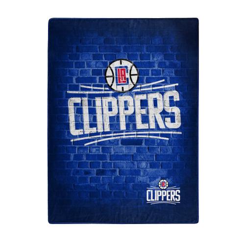 Los Angeles Clippers Blanket 60x80 Raschel Street Design - Special Order