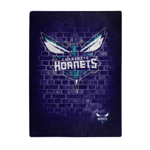 Charlotte Hornets Blanket 60x80 Raschel Street Design - Special Order
