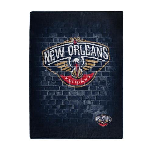 New Orleans Pelicans Blanket 60x80 Raschel Street Design - Special Order