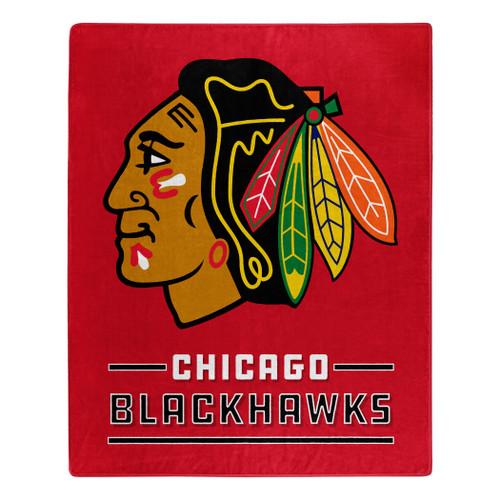 Chicago Blackhawks Blanket 50x60 Raschel Interference Design