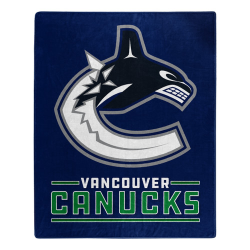 Vancouver Canucks Blanket 50x60 Raschel Interference Design - Special Order