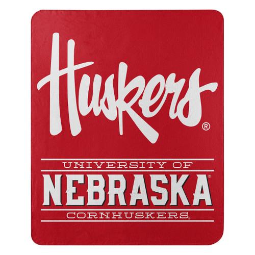 Nebraska Cornhuskers Blanket 50x60 Fleece Control Design