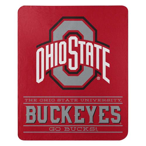 Ohio State Buckeyes Blanket 50x60 Fleece Control Design